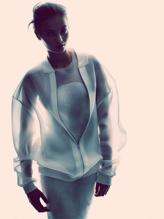 Sheer white sports luxe