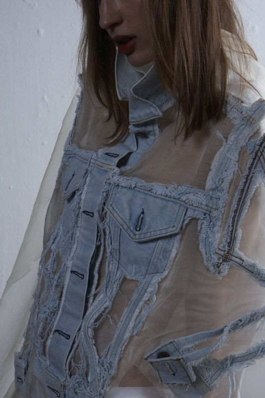 Transparent denim